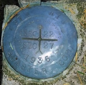 A close-up of the marker.